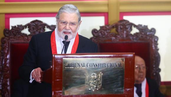 Ernesto Blume brindó esta mañana su último discurso como saliente presidente del Tribunal Constitucional. (Foto: GEC)