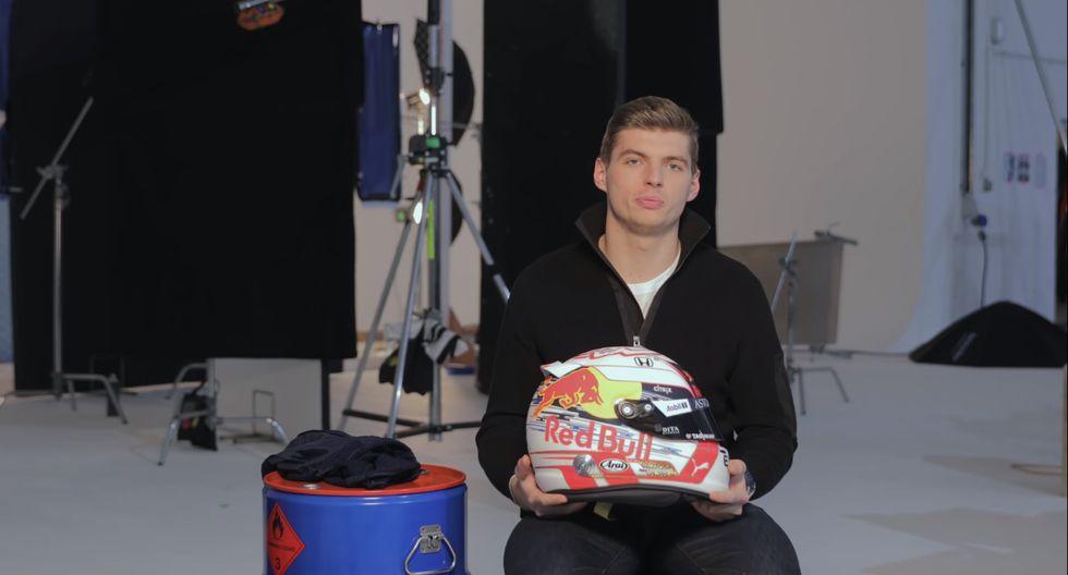 Para esta temporada, el casco de Max Verstappen lucirá un predominio del color blanco. (Foto: YouTube).
