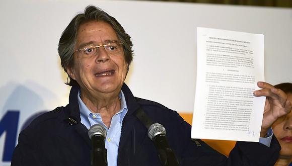 Lasso pide recuento de resultados electorales en Ecuador