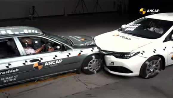 La intensión de la ANCAP era resaltar cuán importante es la nueva tecnología de seguridad en vehículos para prevenir lesiones en posibles accidentes vehiculares. (Foto: captura de YouTube)