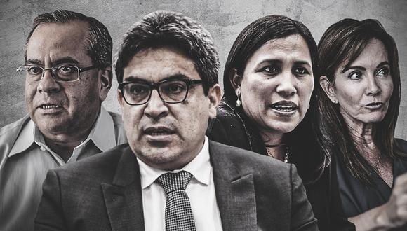 En los últimos cuatro años el Congreso ha cuestionado a cuatro de los seis ministros de Educación. El actual titular del sector, Martín Benavides, se presenta ante el pleno ante rumores de censura, tal como sucedió con Jaime Saavedra a finales del 2016. (Composición: El Comercio)