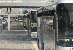 Metropolitano: así fue la congestión tras choque de bus de la PNP contra puente peatonal | FOTOS