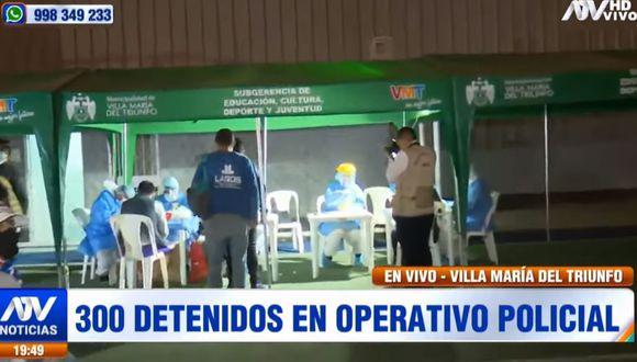 La Policía Nacional realizó un operativo en Villa María del Triunfo. (ATV)