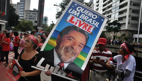 Lula da Silva fue presidente de Brasil entre el 2003 y 2011. Actualmente cumple una pena de ocho años y diez meses de prisión por corrupción. (Foto: AFP). NELSON ALMEIDA / AFP)