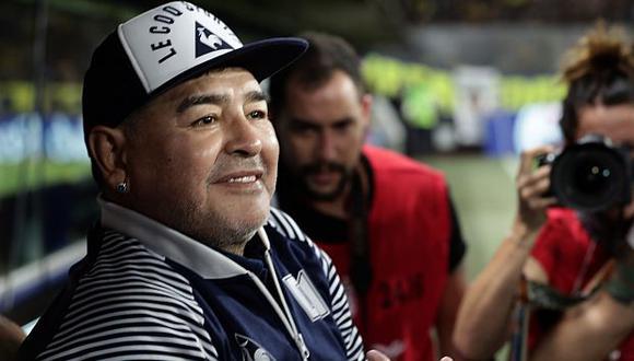 Diego Maradona es entrenador de Gimnasia y Esgrima La Plata. (Foto: AFP)