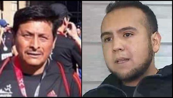 El peruano Agustín Coro Conde (izquierda) y el comerciante Fabian Andres Gutierrez Vasquez (derecha). Foto: Captura de video: CNN Chile