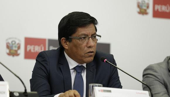 Vicente Zeballos dijo que desde el gobierno se canalizan las donaciones. (Foto: Difusión)