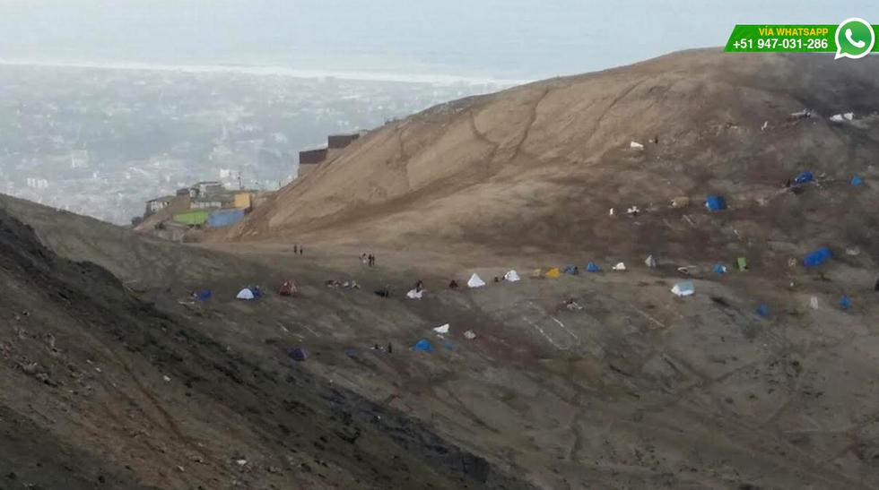 WhatsApp: pobladores invaden Morro Solar de Chorrillos [FOTOS] - 4