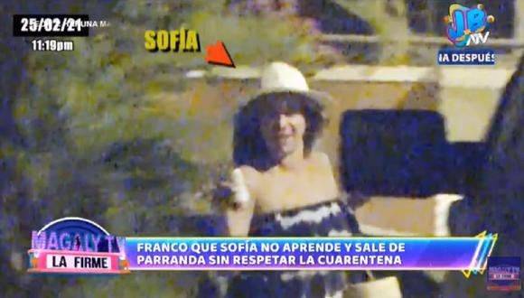 Sofía Franco no respeta cuarentena tras regresar de México. (Foto: Captura Magaly TV: La Firme)