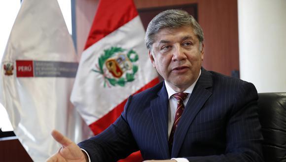 El ministro de Vivienda, Miguel Estrada, conversó con El Comercio sobre la escasez de resultados en su cartera, que recientemente llevó a la renuncia a dos viceministros.