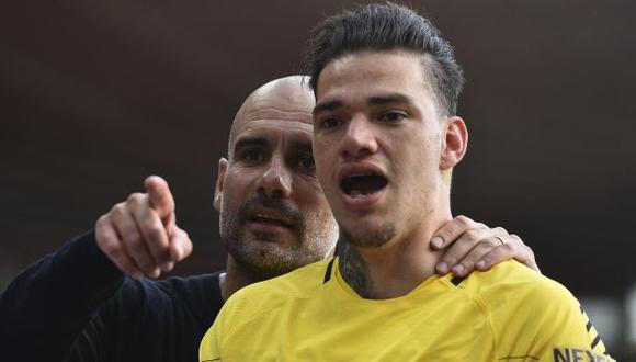 Ederson Moraes también es una opción para Pep Guardiola para patear penales. (Foto: AFP)