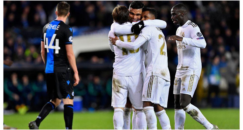 Real Madrid derrotó 3-1 a Brujas