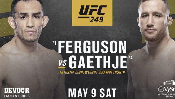 El UFC 249 se realizará este 9 de mayo en el Vystar Veterans Memorial Arena en Florida pese a la pandemia de coronavirus. (UFC)