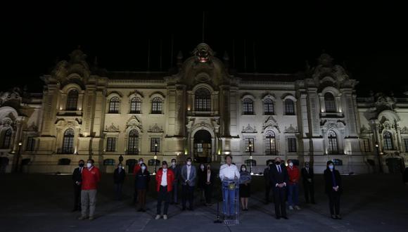 Martín Vizcarra dio su último discurso fuera de Palacio de Gobierno. (Presidencia)