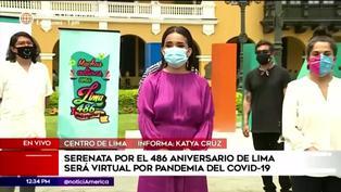 Serenata por el 486 aniversario de Lima será virtual