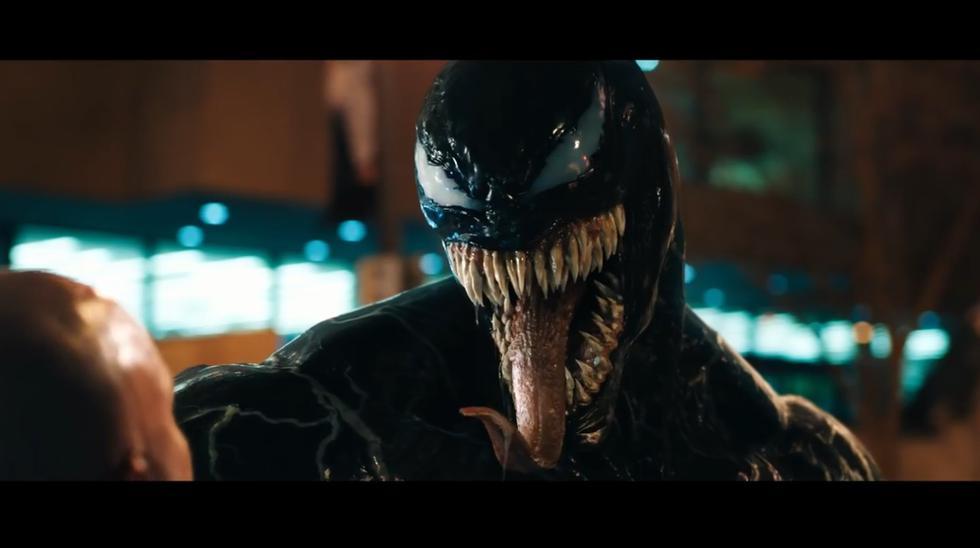 """""""Venom"""" por fin muestra sus habilidades en el tráiler de la esperada película. (Foto: Sony Pictures/ YouTube)"""