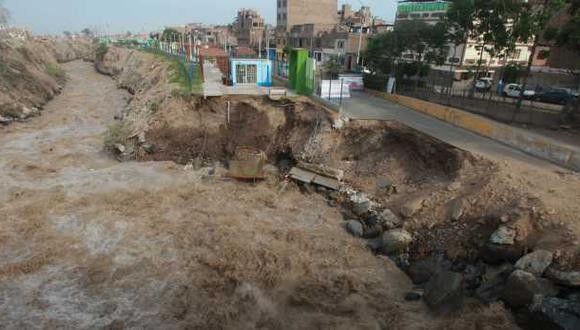 Indeci alertó el incremento del nivel de agua del río Rímac debido a las lluvias ocurridas en las zonas altas de su cuenca. (Foto: El Comercio/Juan Ponce)