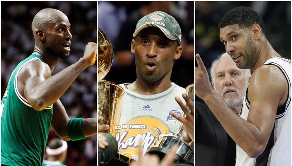 Kobe Bryant, Tim Duncan y Kevin Garnett: tres historias de los nuevos inducidos al Salón de la Fama de la NBA | Fotos: AP/Reuters