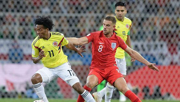 Colombia vs. Inglaterra EN DIRECTO ONLINE por DirecTV / RCN / Caracol: igualan 1-1 en el Estadio del Spartak por el pase a los cuartos de final del Mundial Rusia 2018. (Foto: AFP)