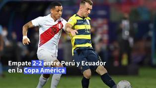 Perú le empata 2-2 a Ecuador y prolonga la definición del Grupo B de Copa América