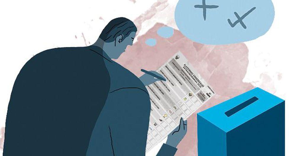 El 70% cree que se puede votar por candidatos de distintos partidos, lo que es incorrecto. (El Comercio)