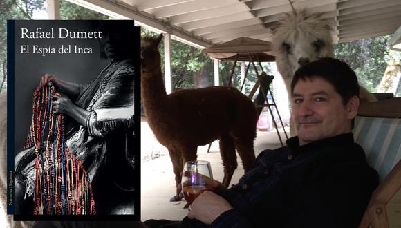 """La pandemia transformó la vida del escritor Rafael Dumett, autor de """"El espía del Inca"""", quien se mudó de San Francisco al pequeño pueblo de Fiddletown, en California. En la foto, con sus alpacas criadas en casa. (Fotos: Alfaguara/ Archivo personal del autor)"""