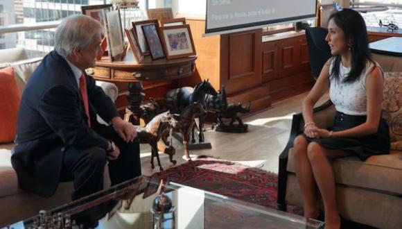 Nadine Heredia también se reunió con Piñera en Santiago