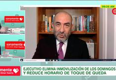 """Estamos pasando esta primera gran ola"", afirma Elmer Huerta tras medidas sobre el coronavirus en Perú"