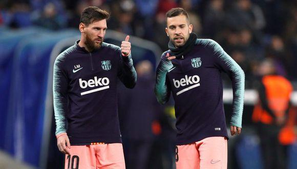 Jordi Alba responde a la comparación entre Messi y Vinicius Junior (Foto: Reuters).
