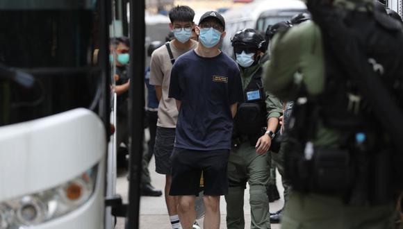 Hong Kong detiene a decenas de reconocidos opositores en virtud de ley china de seguridad nacional. (Foto referencial, May JAMES / AFP).