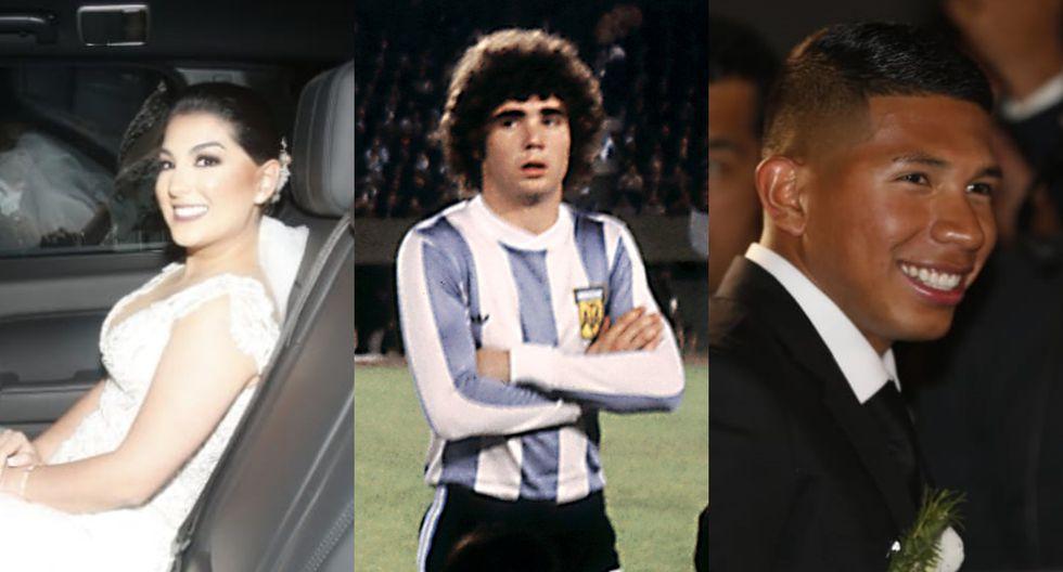 Durante la boda de Edison Flores y Ana Siucho, el sacerdote contó una anécdota futbolística que implicó al jugador argentino Alberto Tarantini. Fotos: El Comercio/ AFP.