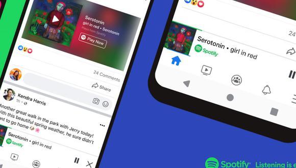 La integración de Spotify en la 'app' de Facebook es tanto para iOS como para Android. (Foto: Spotify)