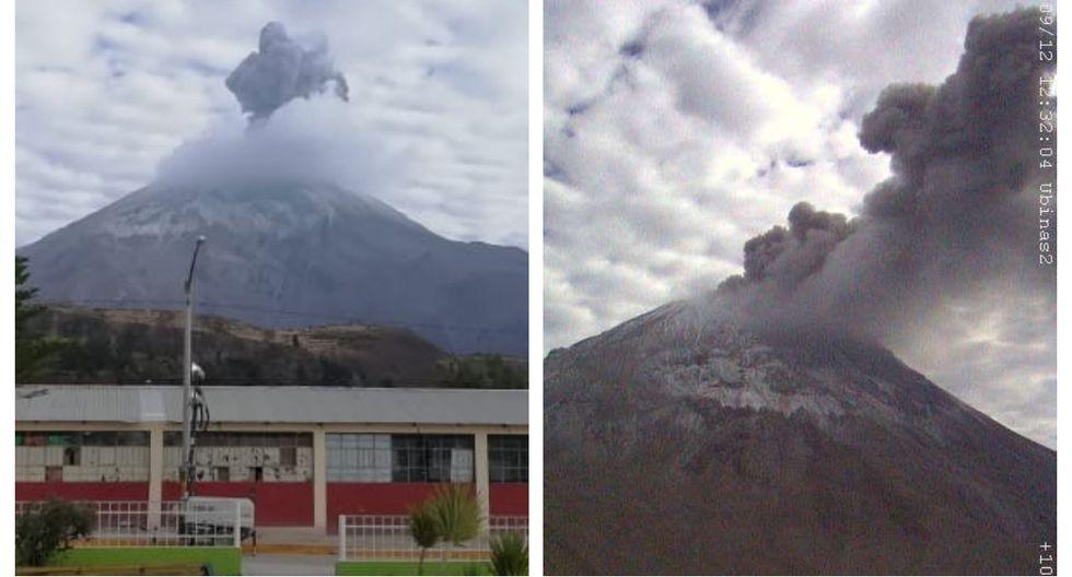 La explosión del volcán Ubinas ocurre como parte del proceso eruptivo que atraviesa el macizo. (Foto: IGP)
