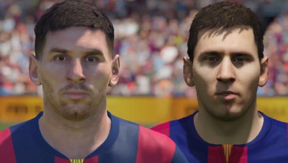 PES 2015 vs FIFA 15: comparan rostros de jugadores
