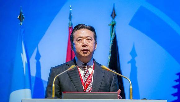 Meng Hongwei Esposa del desaparecido presidente de Interpol cree que se halla en peligro (Foto: EFE)