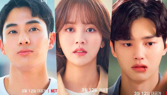 """""""Love alarm"""" es protagonizada por los actores surcoreanos Kim So Hyun, Song Kang y Jung Ga Ram (Foto: Netflix)"""