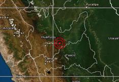 Sismo de magnitud 4 remeció la región Huánuco esta madrugada, según IGP