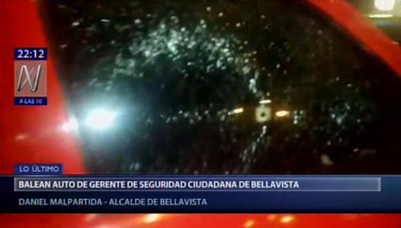 Balean agerente de seguridad ciudadana de Bellavista. (Video: Canal N)
