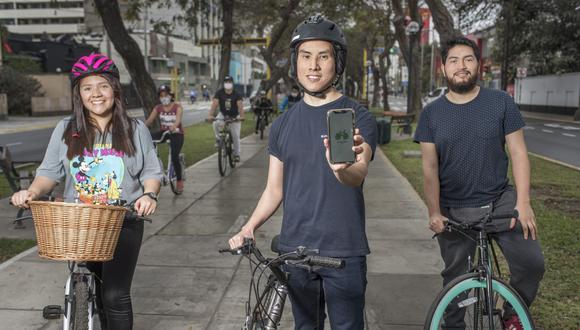 """""""El espíritu de esta app es incentivar a que más personas se transporten en bicicleta"""", dice el equipo de Ticlea Perú. (Foto: Omar Lucas / Somos)"""
