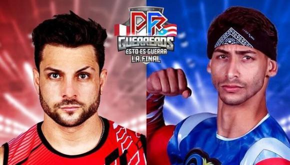 """""""Esto es guerra"""". De izquierda a derecha Nicola Porcella y Joshua Emill, representantes de Perú y Puerto Rico en """"Guerreros Puerto Rico. (Foto: Instagram @guerreroswapa)."""