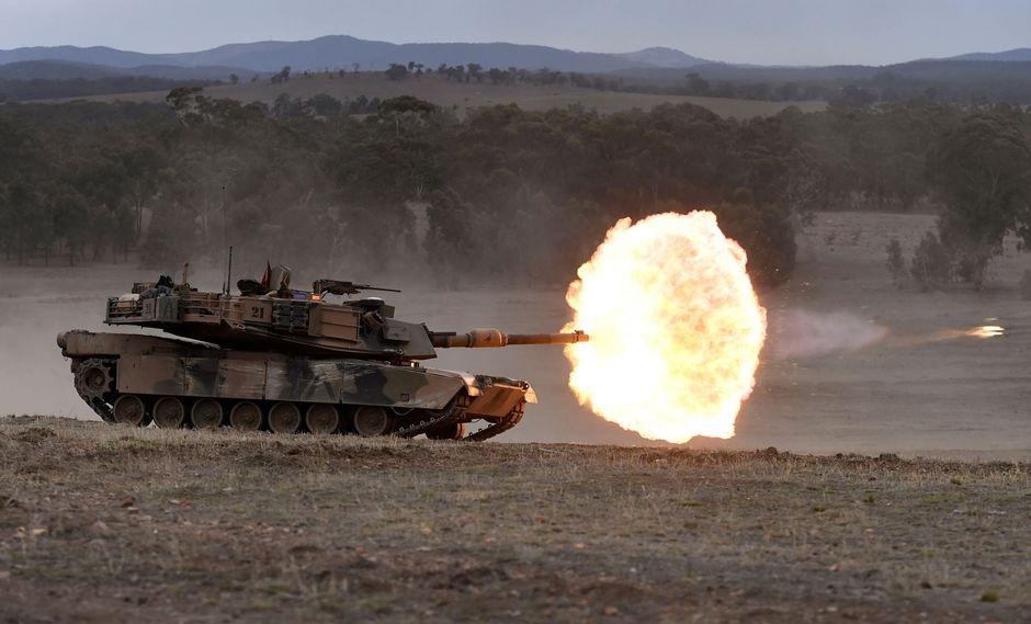 El Departamento de Estado de Estados Unidos aprobó la potencial venta a Taiwán de US$2.200 millones en armas, incluyendo tanques Abrams como el que aparece en la imagen. (AFP)