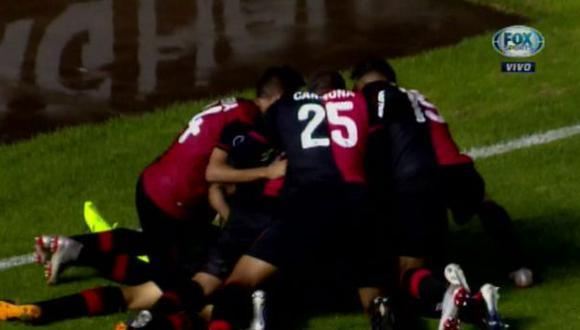 Melgar vs. Caracas EN VIVO: centro de Sánchez y cabezazo de Romero para el 1-0 del cuadro 'Dominó' | VIDEO. (Foto: Captura de pantalla)