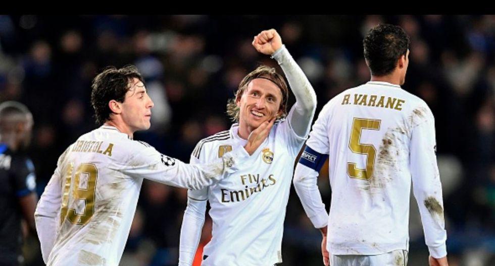 Modric marcó el 3-1 del Real Madrid ante Brujas por Champions League. (Foto: AFP)