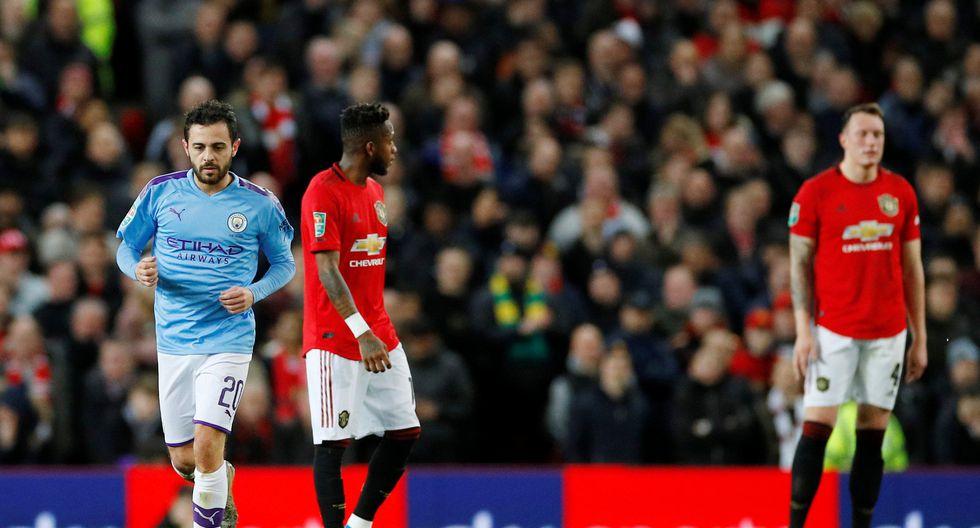 Manchester United vs. Manchester City: las postales del derbi en el Old Trafford por la Copa de la Liga. (Foto: REUTERS/Phil Noble)