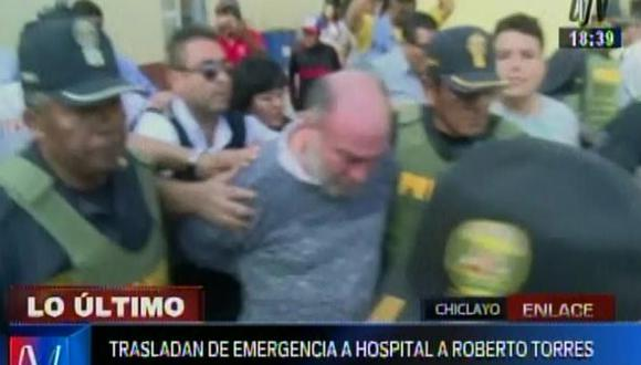 Chiclayo: Roberto Torres internado de emergencia en hospital