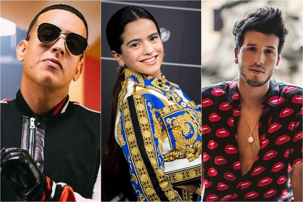 Daddy Yankee, Rosalía y Sebastián Yatra están nominados al Premio Lo Nuestro. (Foto: Difusión)