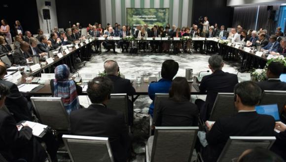 Reunión en Canadá sobre el futuro del acuerdo climático de París... sin EE.UU. (Foto: AFP)