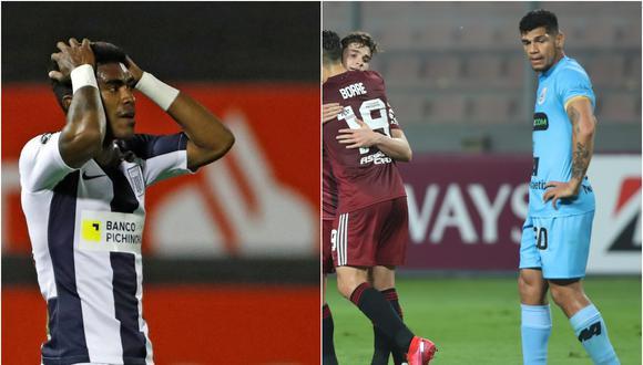Alianza Lima y Binacional son últimos en sus respectivos grupos de la Copa Libertadores | Fotos: Agencias