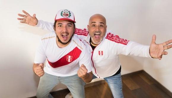 """Marco Romero y  Gonzalo Calmet, creadores del tema """"Vamos Perú"""". (Foto: Difusión / Séfora Ambulodegui )"""