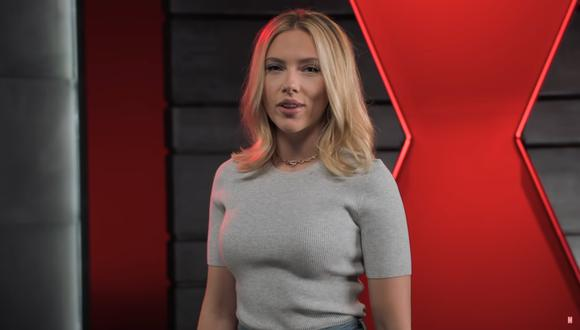 """Scarlett Johansson en un video promocional de """"Black Widow"""", la más reciente cinta de Marvel Studios. (Foto: Disney+)."""